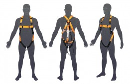 H105 LINQ Basic Full Body Harness with Lanyard 1